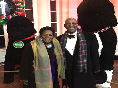 Dean Craig Jackson at the White House Christmas Party