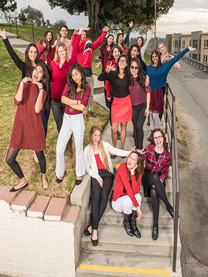Nutrition & Dietetics students wear red